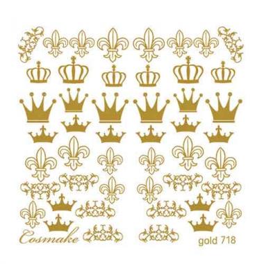 Слайдер Дизайн 718 фольгированный золото Корона
