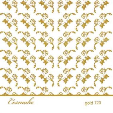 Слайдер Дизайн 720 фольгированный золото Листики