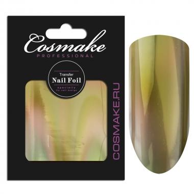 10 Фольга переводная для дизайна ногтей Cosmake Золото голографика 1метр