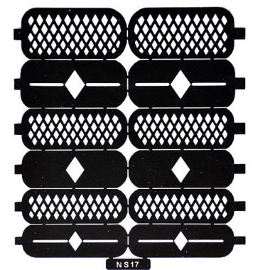 Трафарет для дизайна ногтей 13 ромбы