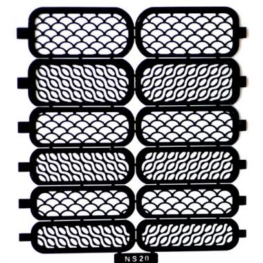Трафарет для дизайна ногтей 15 чешуя