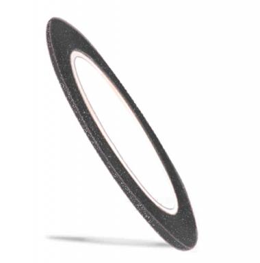 08 Лента для ногтей Color Line черная матовая