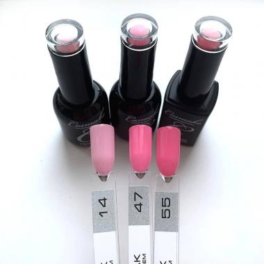 0047 Гель-лак с липким слоем 11мл Cosmake Насыщенный Розовый