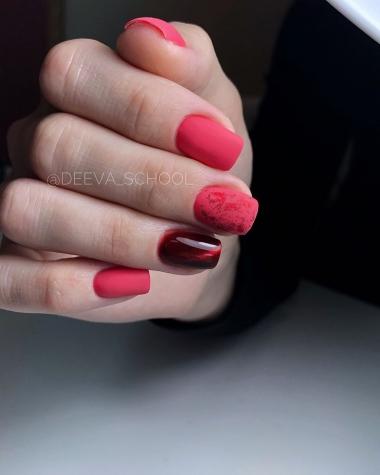 0053 Гель-лак с липким слоем 11мл Cosmake Красно-Розовый