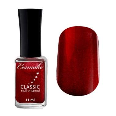 Лак для ногтей  CLASSIC Cosmake 77 11мл Малиновый с шиммером