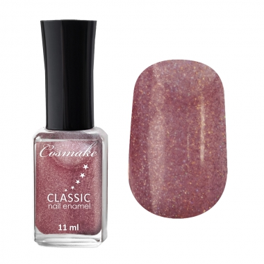 Лак для ногтей  CLASSIC Cosmake 81 11мл Земляника с блёстками