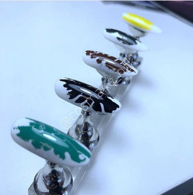 57 Фольга переводная для дизайна ногтей Cosmake Голубая матовая 1метр
