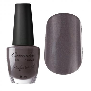 010 Лак для ногтей Professional Cosmake 16мл Серо-Коричневый с блестками