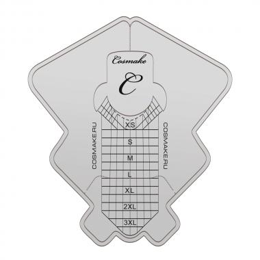 04FN Формы для ногтей Серебро 25 шт. Cosmake