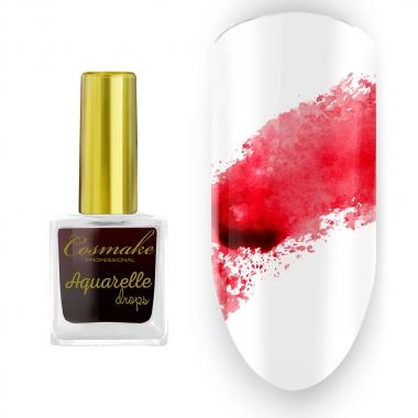 02 Краска Aquarelle Drops Красная Cosmake 9 мл