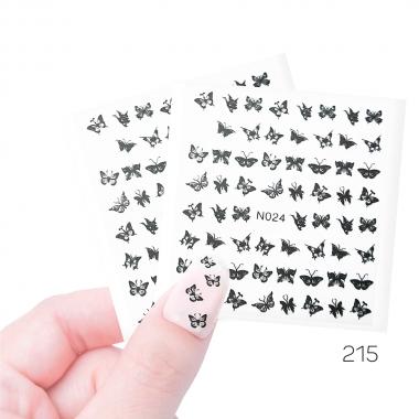 215 Наклейки силиконовые Cosmake Бабочки