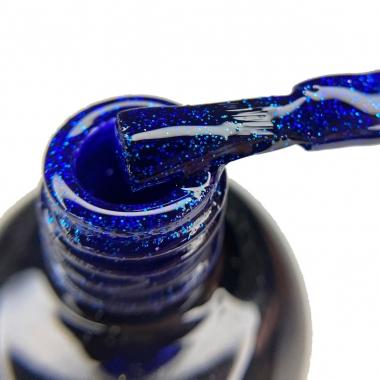 0112 Гель-лак с липким слоем 11мл Cosmake Ярко-Синий с блестками