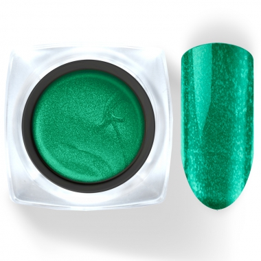 105 Гель-краска Паутинка 5г ярко-зеленая с блестками Cosmake Premium