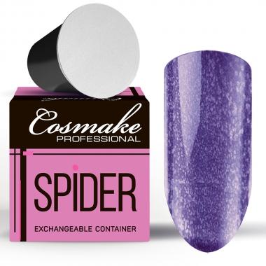 Z112 Гель-краска Паутинка фиолетовая с блестками Запасной блок 5г Cosmake