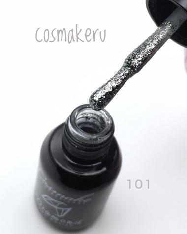 101 Гель лак жидкая фольга Diamond 6мл Cosmake Серебро