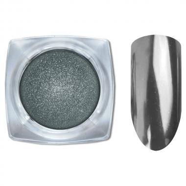 09 Зеркальный блеск ХРОМ втирка для ногтей 0,2гр. Cosmake Серый