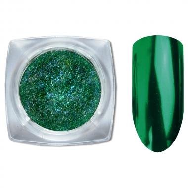 03 Зеркальный блеск Галактика втирка для ногтей 1гр. Cosmake Темно-Зеленый