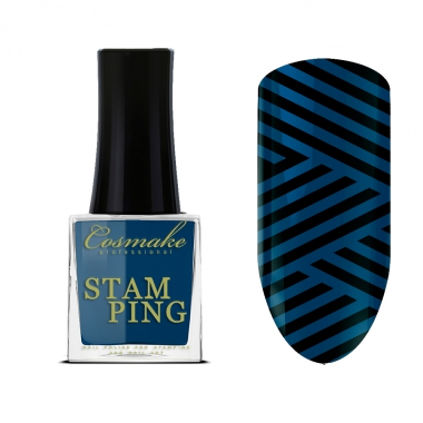 15 Лак для Стемпинга  9мл Cosmake темно-синий