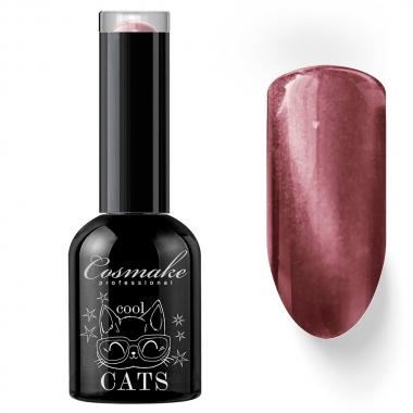 10 Кошачий глаз гель-лак 11 мл Cosmake бежево розовый