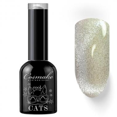 20 Кошачий глаз гель-лак 11 мл Cosmake серый с мульти блестками