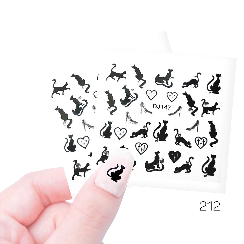212 Наклейки силиконовые Cosmake Кошки