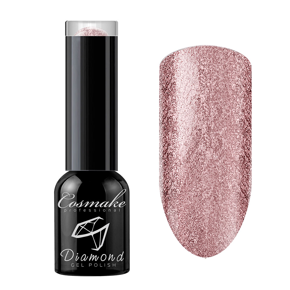 103 Гель лак жидкая фольга Diamond 6мл Cosmake Стальной Розовый