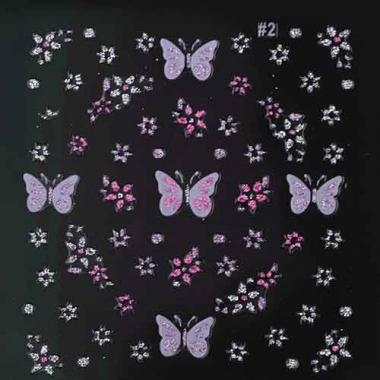 Наклейка для ногтей стразы 126 цветные