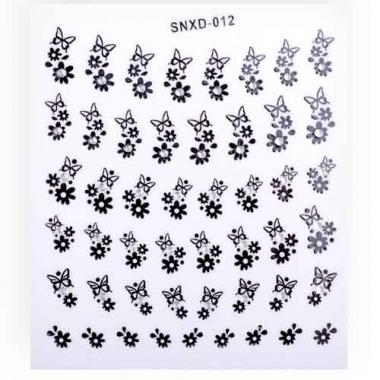 Наклейка для ногтей стразы 211 черные