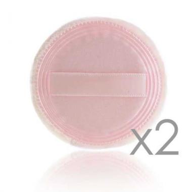 Набор спонжей для пудры бежевых упаковка 2 шт (SP-07)