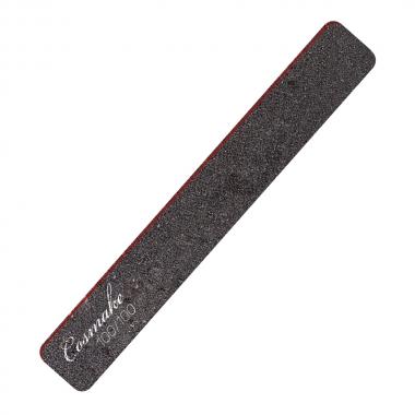 Пилка маникюрная прямая широкая черная 100/100 грид (NF-31)