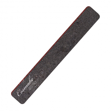 Пилка маникюрная прямая широкая черная 80/80 грид (NF-33)