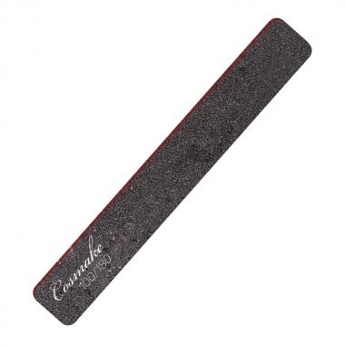 Пилка маникюрная прямая широкая черная 100/180 грид (NF-32)