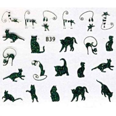 Наклейка для ногтей объемные 39 Котики 3