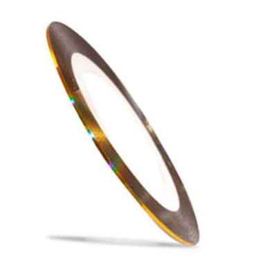 Лента для дизайна ногтей Color Line 3 Золото 3D