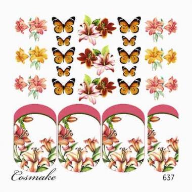 637 Слайдер дизайн Роскошные Лилии