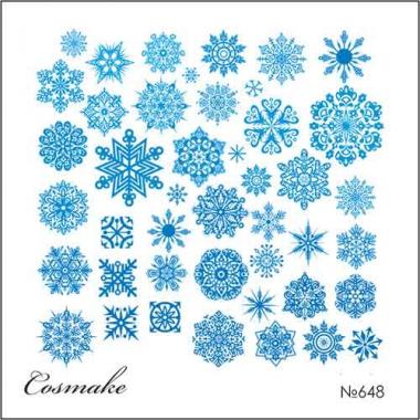 Слайдер дизайн 648 Снежинки голубые