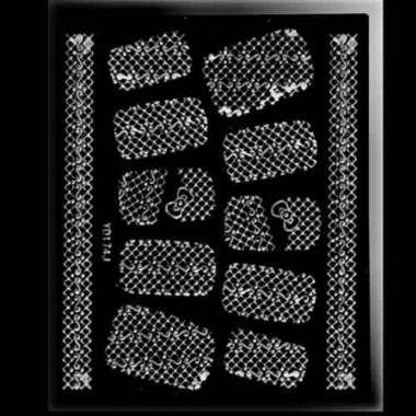 Наклейка для ногтей 318 Deluxe Silver Voile