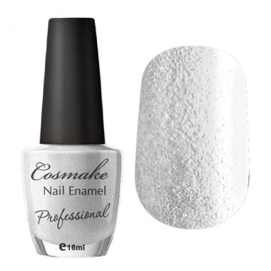 Лак для ногтей 58 Белые искры (песочный лак)