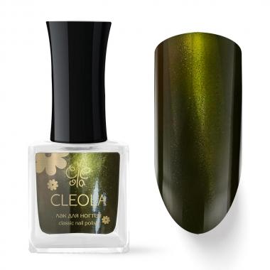 21 Лак для ногтей Cleola 9 мл Оливковый с шиммером