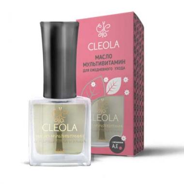 105 Масло мультивитамин для ежедневного ухода за ногтями и кутикулой  Cleola 9 мл