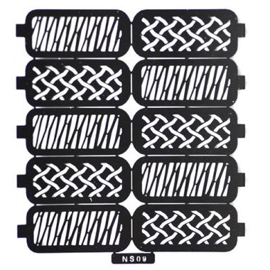 Трафарет для дизайна ногтей 6 плетение