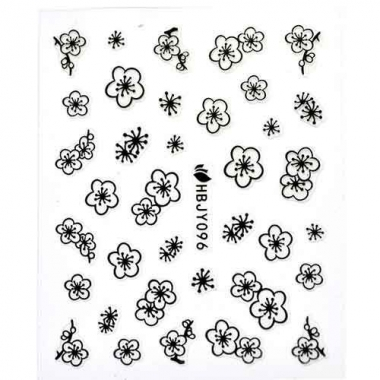 Наклейка для ногтей силиконовые 58 Простые цветы