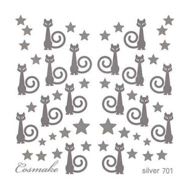 Слайдер Дизайн 701 фольг/серебро Кошки