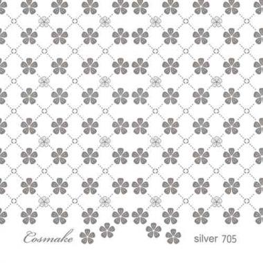 Слайдер Дизайн 705 фольг/серебро Цветочная сетка