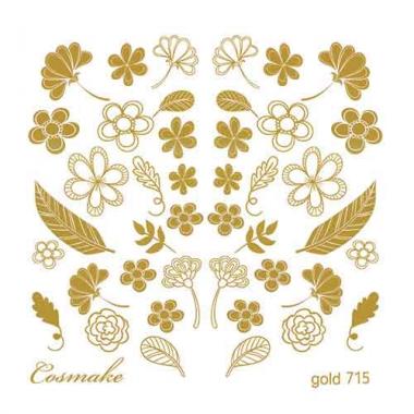 Слайдер Дизайн 715 фольг/золото Разнотравье