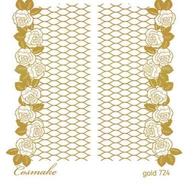 Слайдер Дизайн 724 фольгированный золото Розы