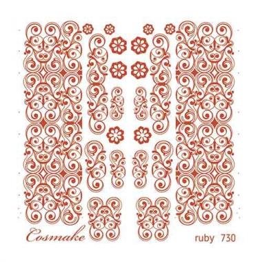 Слайдер Дизайн 730 фольгированный красные Узоры