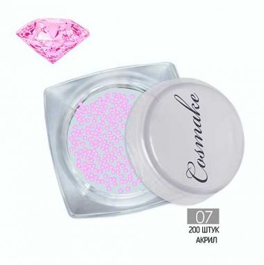 Хрустальная крошка Кристаллы Пикси (200шт.) розовый акрил 07 Cosmake