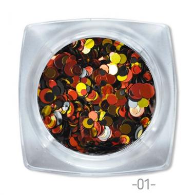 01 конфетти для дизайна ногтей Круглые