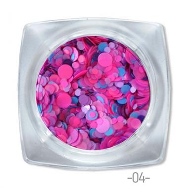 04 конфетти для дизайна ногтей Круглые